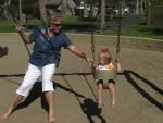 swinging with Grandma