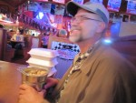 Ted and his peanuts at Texas Roadhouse