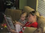 Auntie Cari reading Fancy Nancy