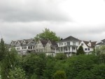 some homes on the hill
